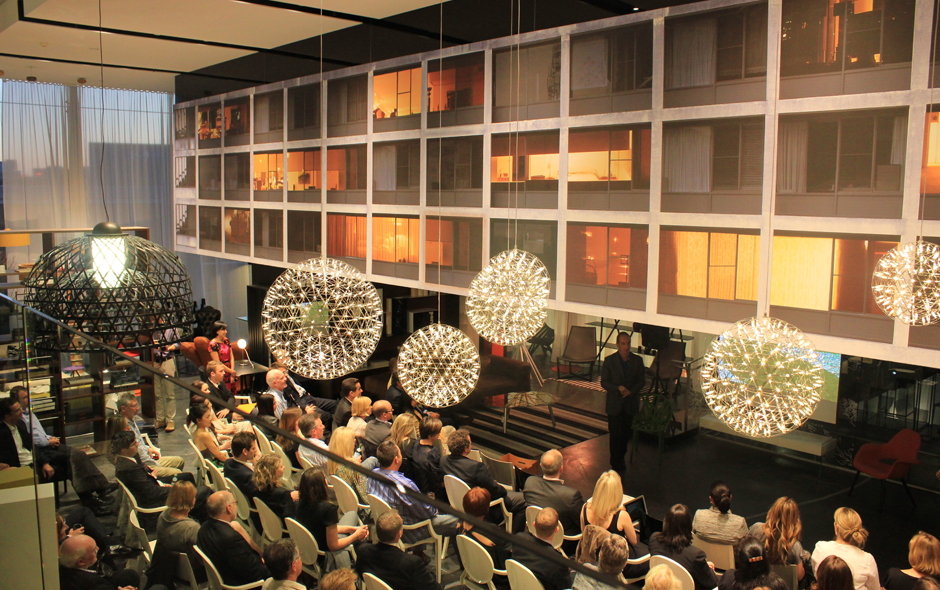 4/5 Kevin McCloud presented to a capacity audience of Australian Financial Review subscribers at Space Furniture Sydney.