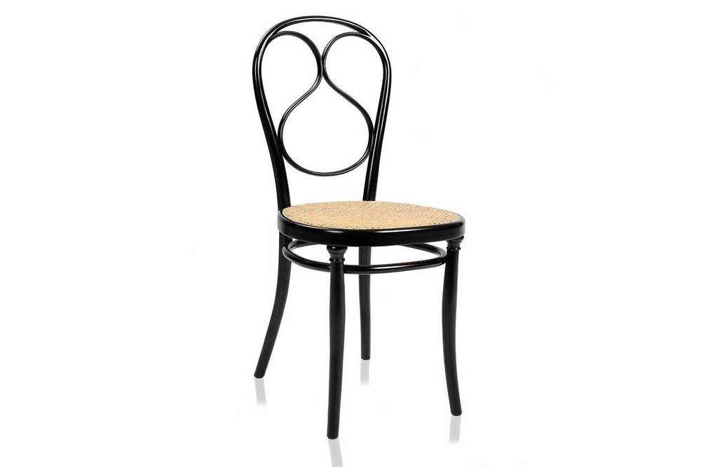The No. 1 chair, designed in 1849, used the company's new technique of steam bent beech wood.The components have been simplified, to enable mass production.