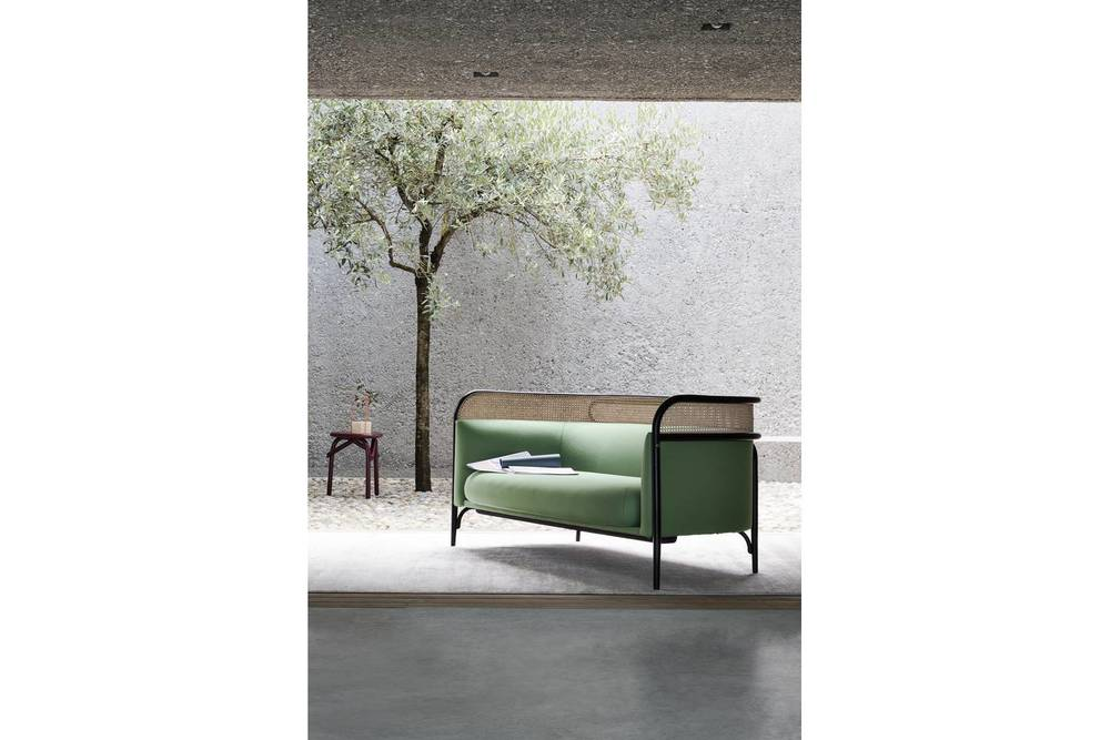 The Targa sofa, created by Italian-Danish design pair GamFratesi for the brand in 2015. elegantly references the traditions and stylistic history of Gebrüder Thonet Vienna.