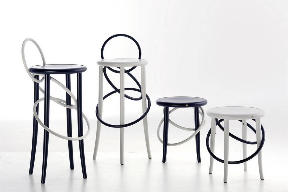 The playful  Cirque stool  from Gebrüder Thonet Vienna GmbH.