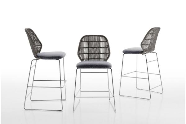 The  B&B Italia Outdoor Crinoline stool  was designed by Patricia Urquiola.