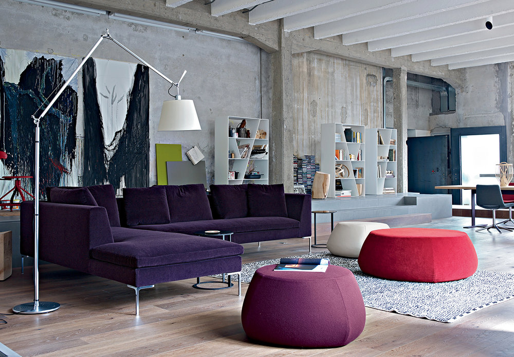 The  B&B Italia Charles sofa  continues to be one of the Italian brand's most popular and celebrated designs.