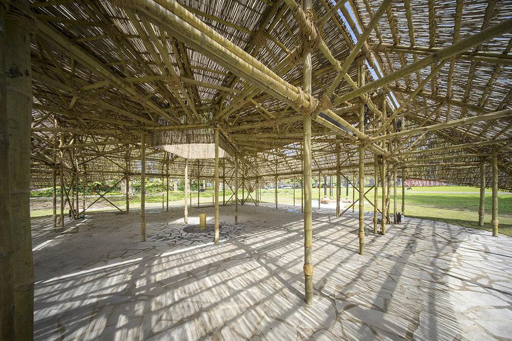 Interior view of the MPavilion by Bijoy Jain. Photo: John Gollings