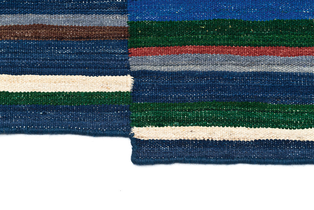 Detail of the Lattice rug