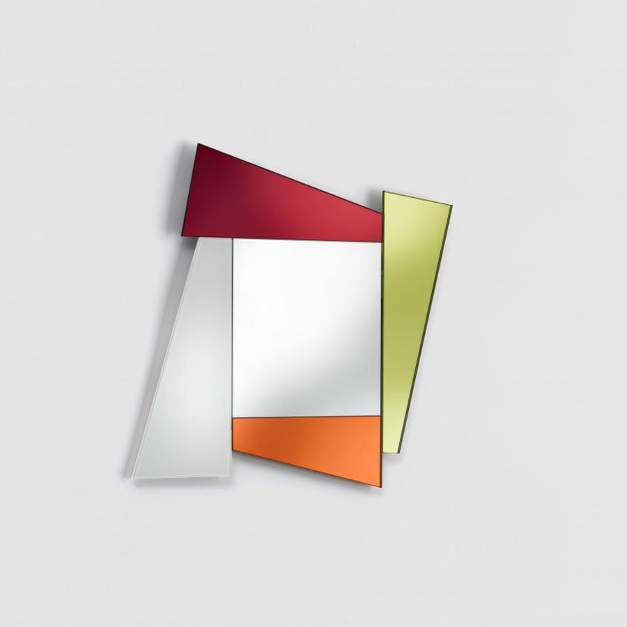 Ettore Sottsass's Gli Specchi di Dioniso mirror that began Glas Italia's foray into colour.