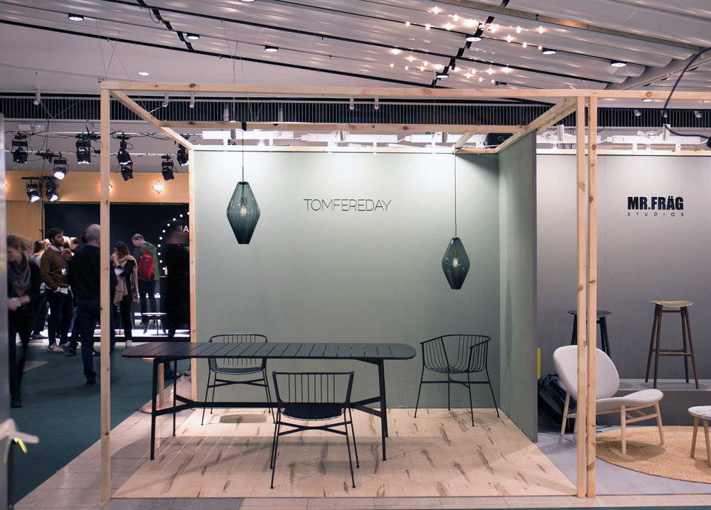 Tom Fereday Stand featuring SP01 at Stockholm Design Week