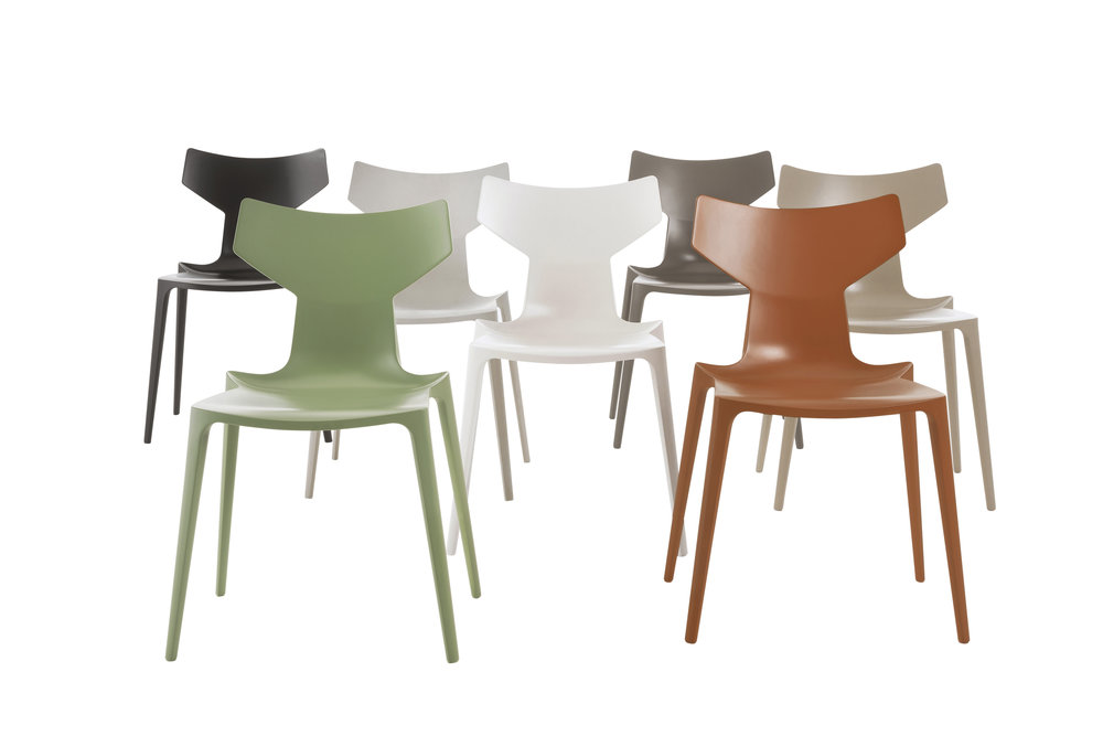 1. Organic chair  Launched in 2016, this is the world's first chair made of Bioduratm a plant by-product transformed into biomass similar in performance to plastic that can be fully recycled at the end of its life. The Organic chair is extremely durable, and like all of Citterio's designs, pared back to the simplest of elements.
