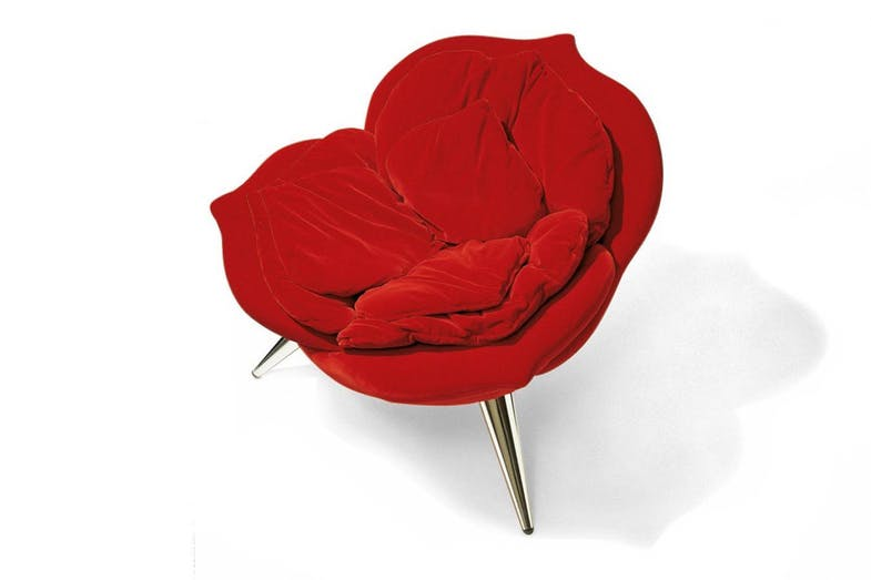 Rose chair designed by Masanori Umeda and manufactured by Edra