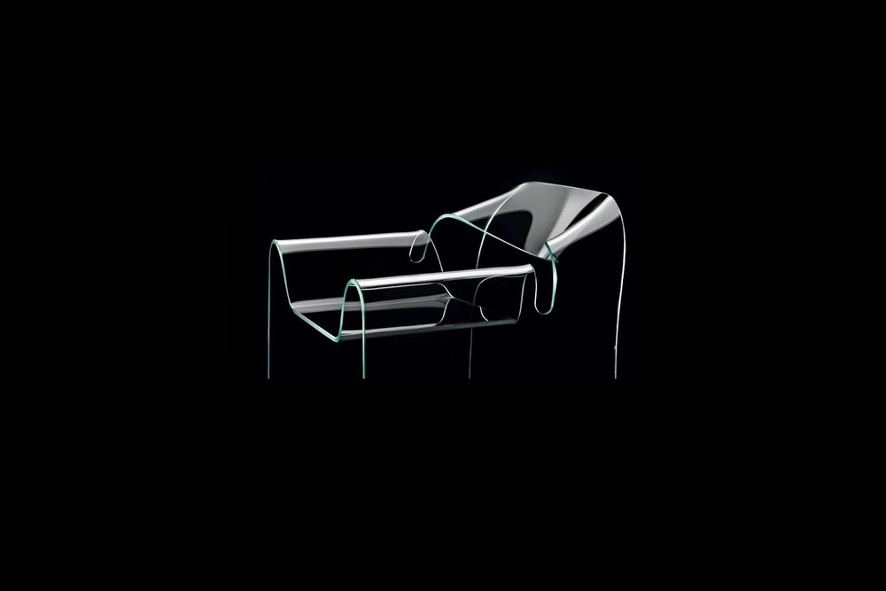 Ghost chair designed by Cini Boeri in 1987 for Fiam.