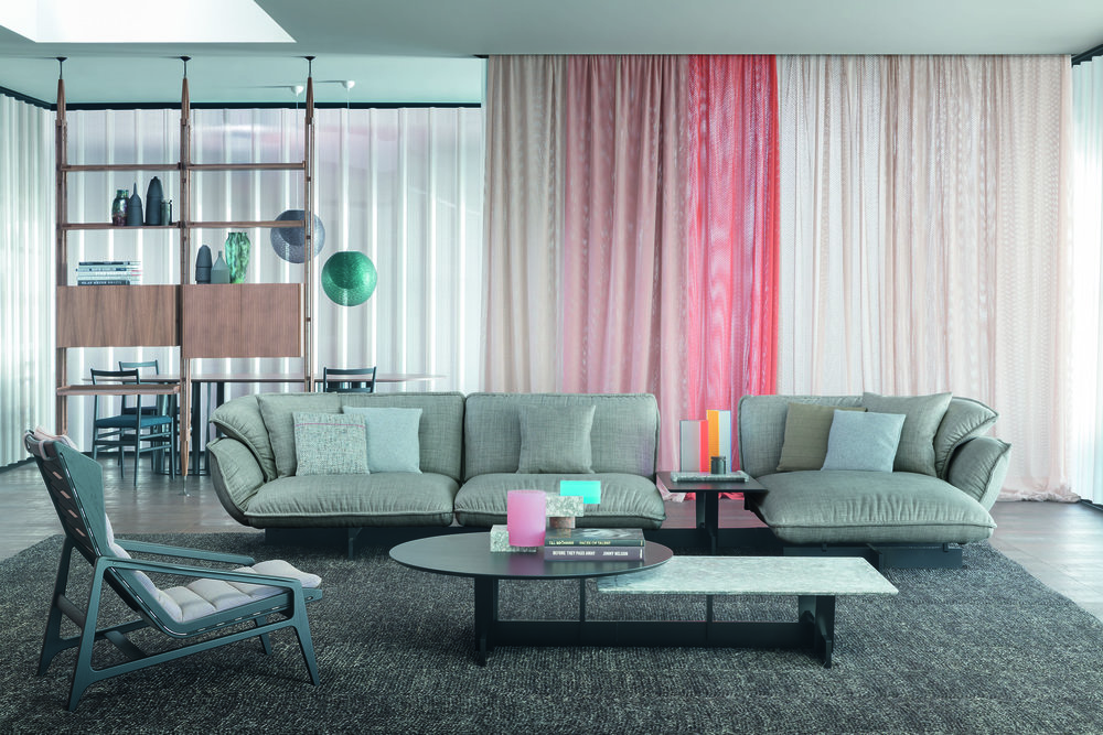 The Super Beam sofa system by Patricia Urquiola for Cassina's Contemporary collection.