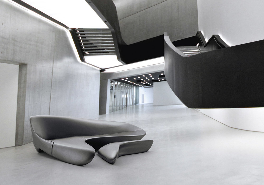 In 2010 the Moon System was chosen by Studio Zaha Hadid Architects for the opening of the MAXXI and again features at the museum as part of 'Zaha Hadid in Italy'.