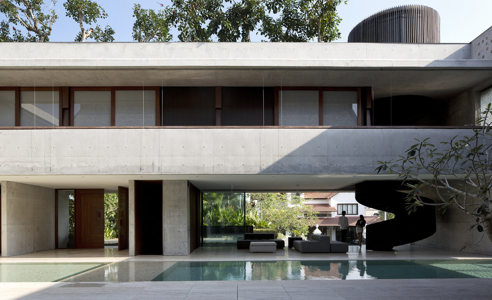 The Courtyard House designed for a multi-generational family who wanted a very open and communal living space.