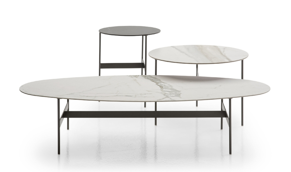 Formiche tables with their classic forms and long 'ant' legs designed by Piero Lissoni for B&B Italia and launched during Milan Design Week 2017.