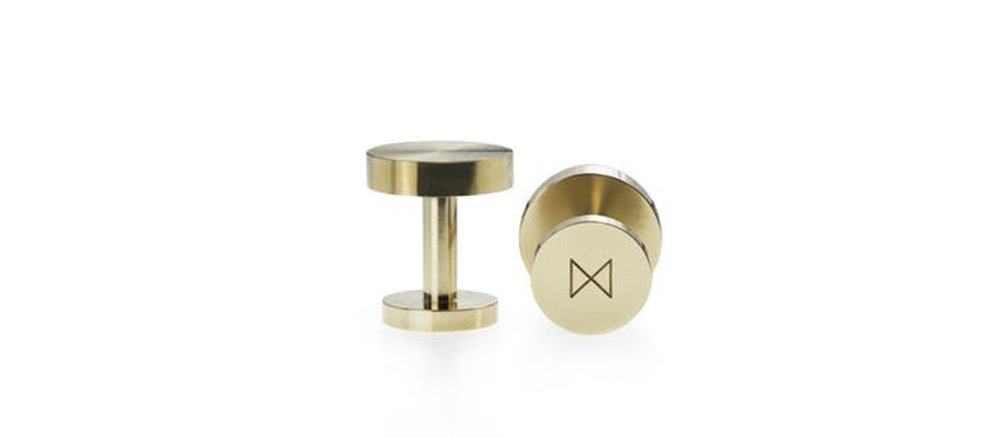 The Minimalux cufflinks are precision machined from single bars of solid brass and are detailed in satin, mirror polished or plated metal finishes.