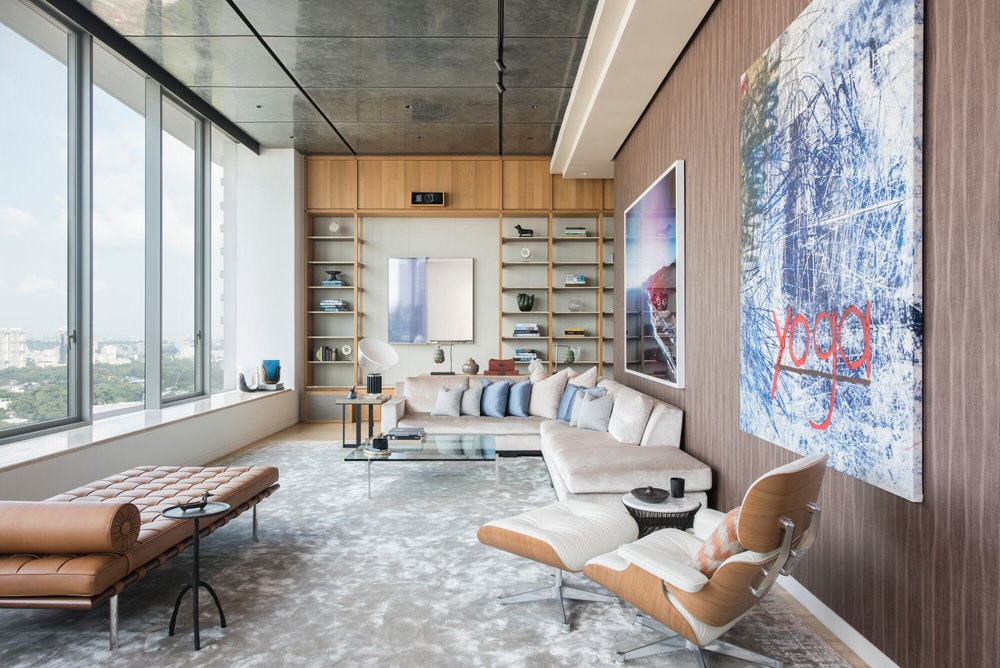 One of Brewin Design Office's latest projects is a beautifully crafted apartment inside Jean Nouvel's Le Nouvel Ardmore tower.  Photo Darren Soh.