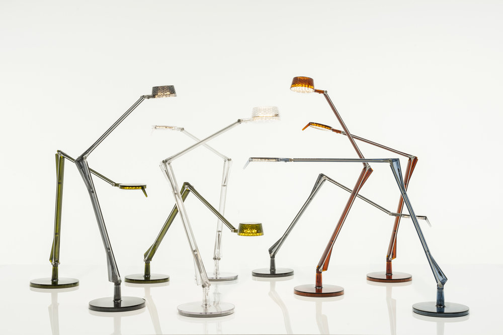 The Aledin Tec & Dec family of lamps by Kartell.