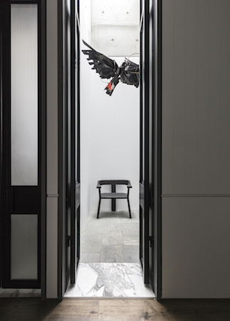 The Red Tailed Black Cockatoos by artist Anna-Wili Highfield adds humour and joy to the interior. Photography by Felix Forest.