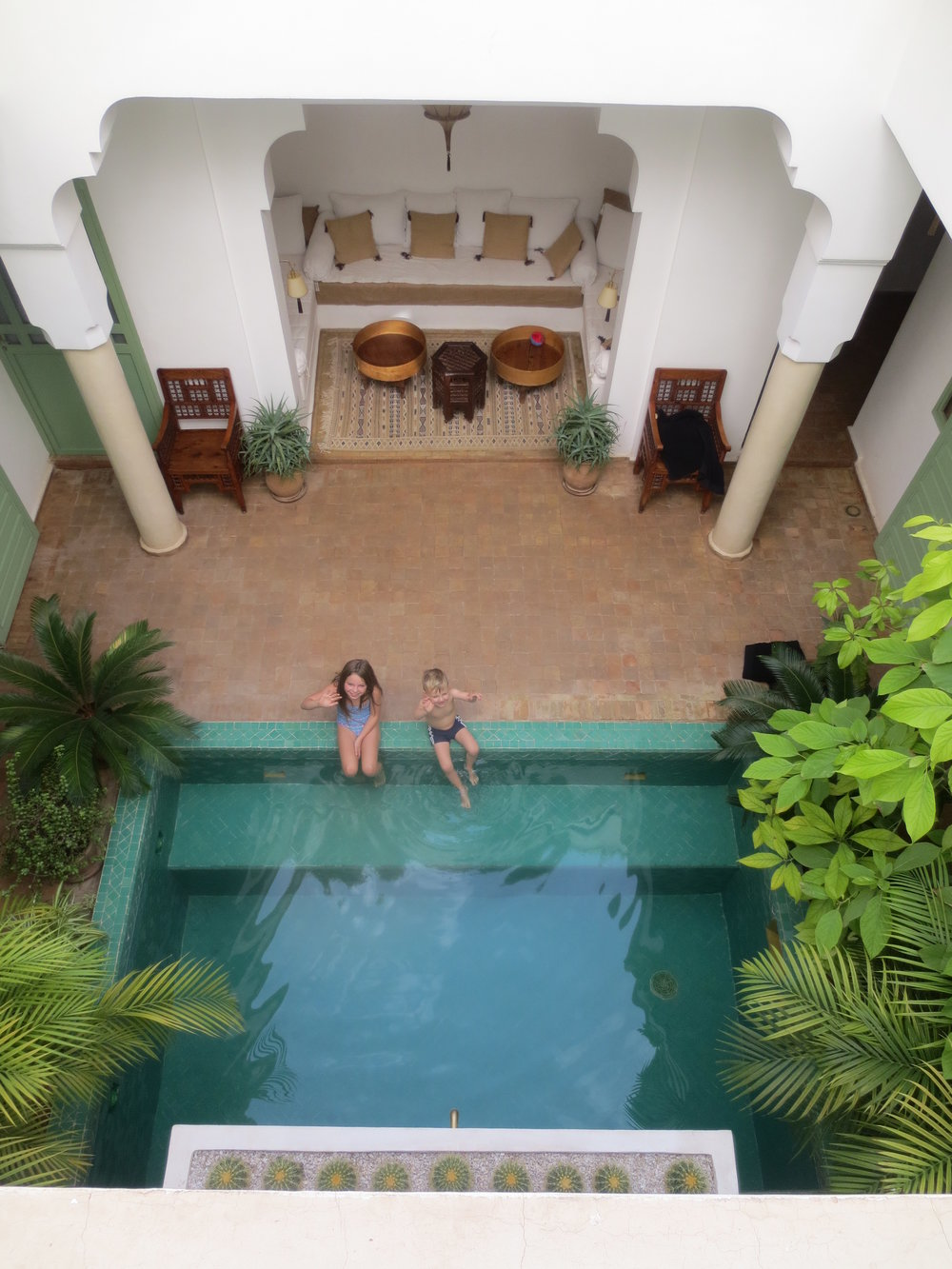 The Riad in Marrakesh where Tracey and her family were immersed in the local culture.