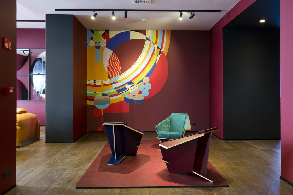 Inside the Cassina showroom redesigned by art director Patricia Urquiola.