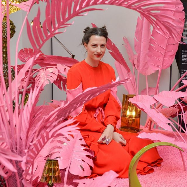 Jewellery designer Madina Visconti Di Modrone and her Psychedelic Jungle for Kartell Crossing Generation installation at Milan Design Week.