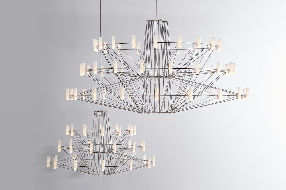 The Coppélia Chandelier designed by Arihiro Miyake and manufactured by Moooi has been hugely popular internationally and is one of Moooi's design success stoires.