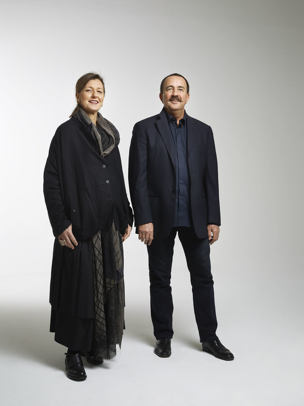 Monica and Valerio Mazzei, founders of the Edra furniture brand in 1987 and supporters of some of the most innovative design thinkers today. Photography © Edra.