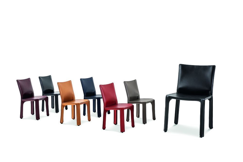 The  CAB chair  designed by  Mario Bellini  in 1977 is back in new sizes, XL and Baby. Photo © Cassina.
