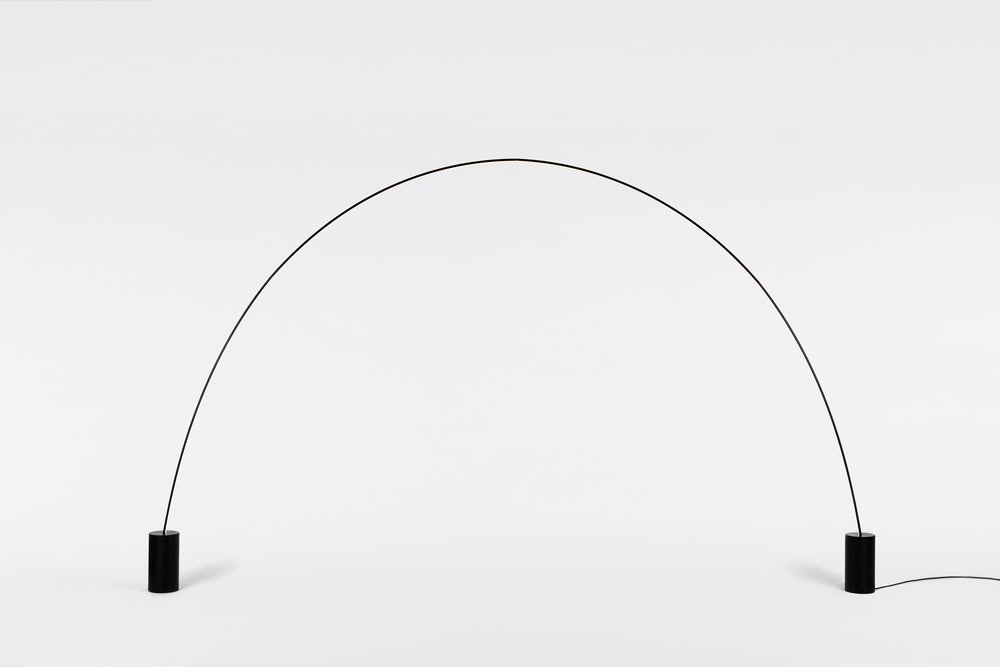 Pole designed by Philippe Malouin. In a quiet nod to sculptor Alexander Calder, is rigid yet flexible, its modular design allowing it to create giant curves. Photo © Roll & Hill.