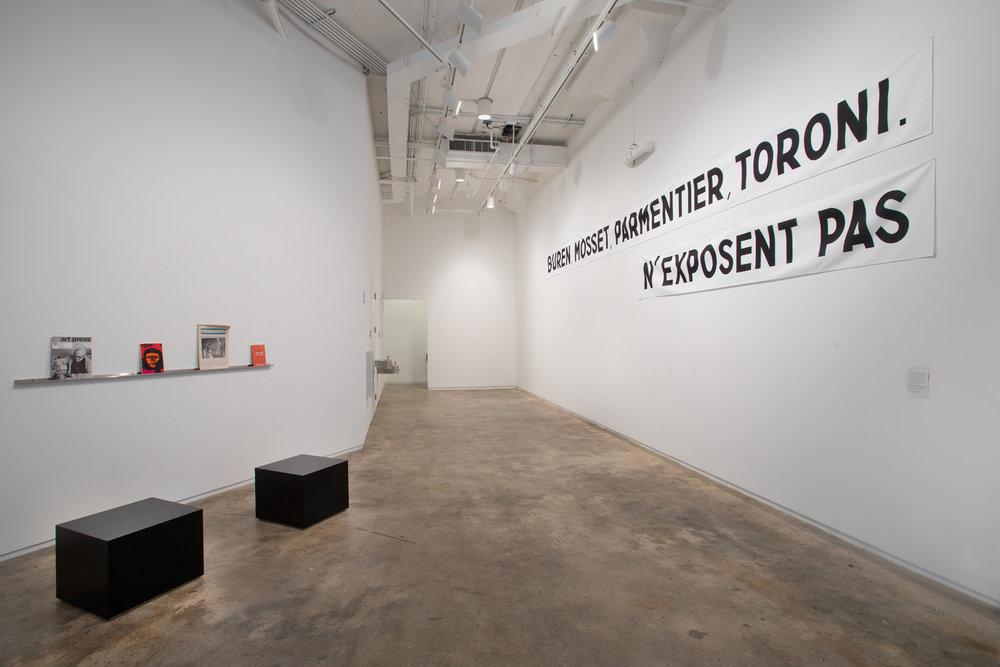 Buren, Mosset, Parmentier, Toroni, 205 Hudson Gallery