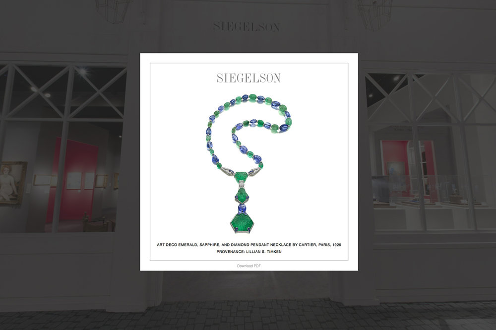 Siegelson Diamonds New York, Trade Fair Virtual Reality VR app