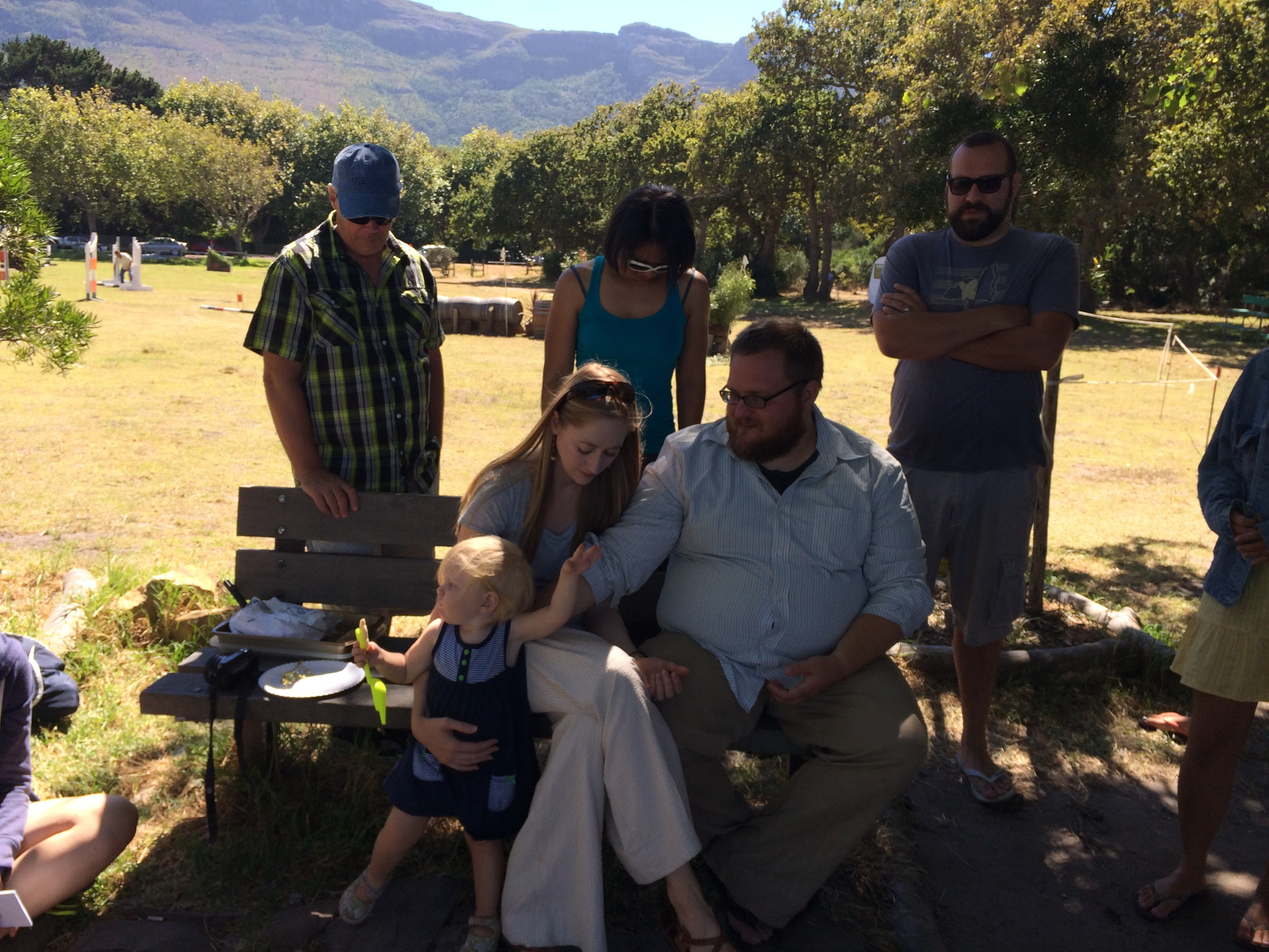 Our amazing All Nations community in Cape Town sent us out so wonderfully in March. Here, some of our community prays over us at our farewell picnic.