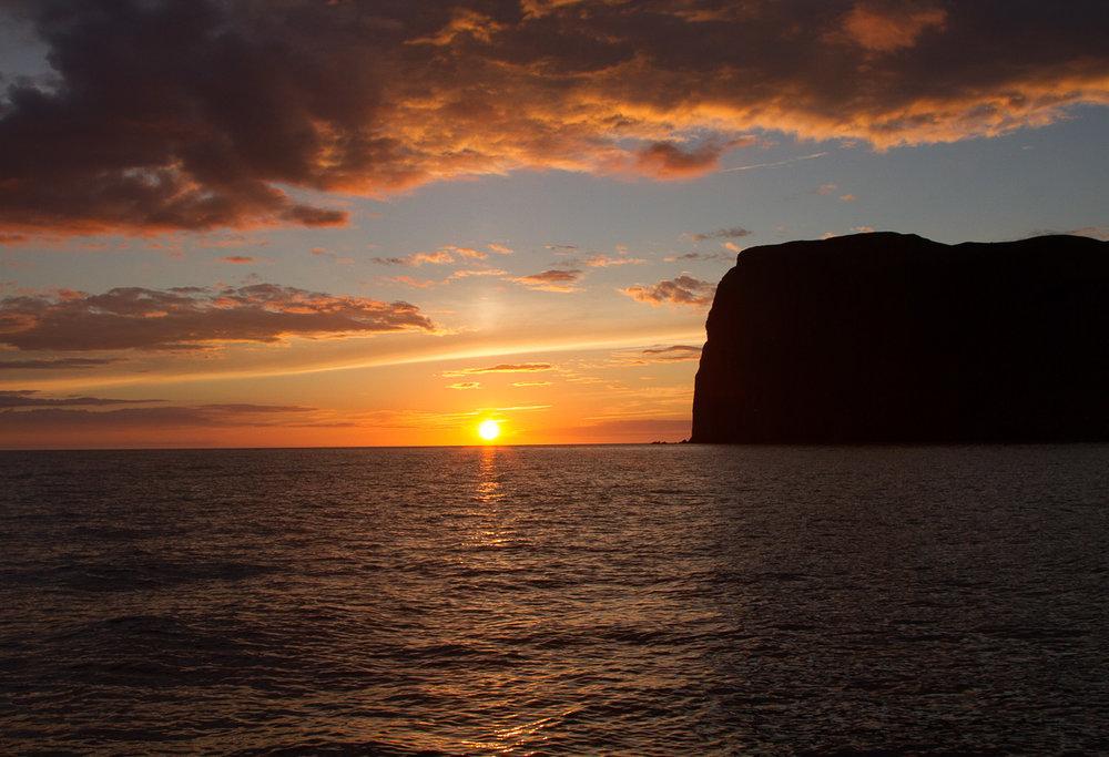 ©Pete Mathews,Midnight Sun, Malmay Island, Skagafjordur