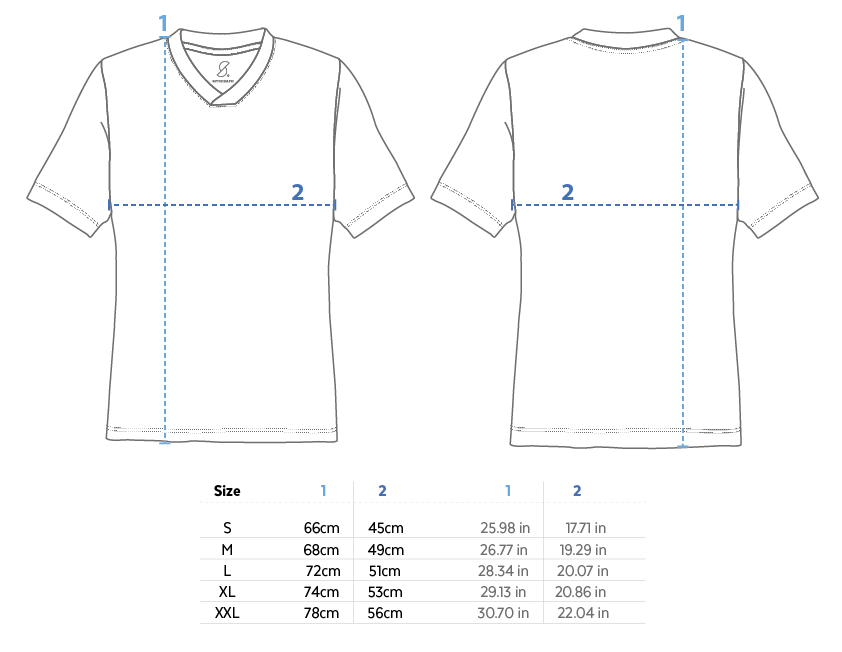 Supporters Jersey Size