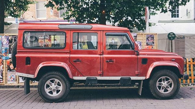Red defender . . . . @graydefender #defender #defenderlove #red #york #acountrifiedwedding