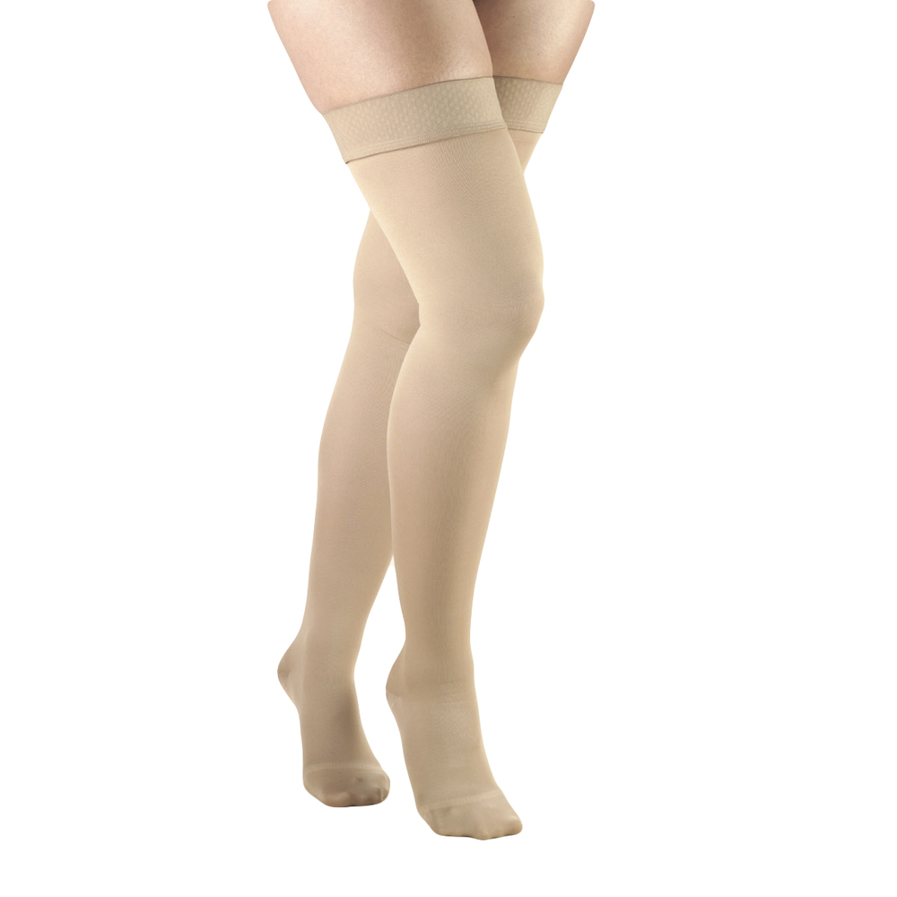 Truform, 0364, 20-30 mmHg, Opaque, Thigh High, Closed Toe, Beige, Compression Stockings