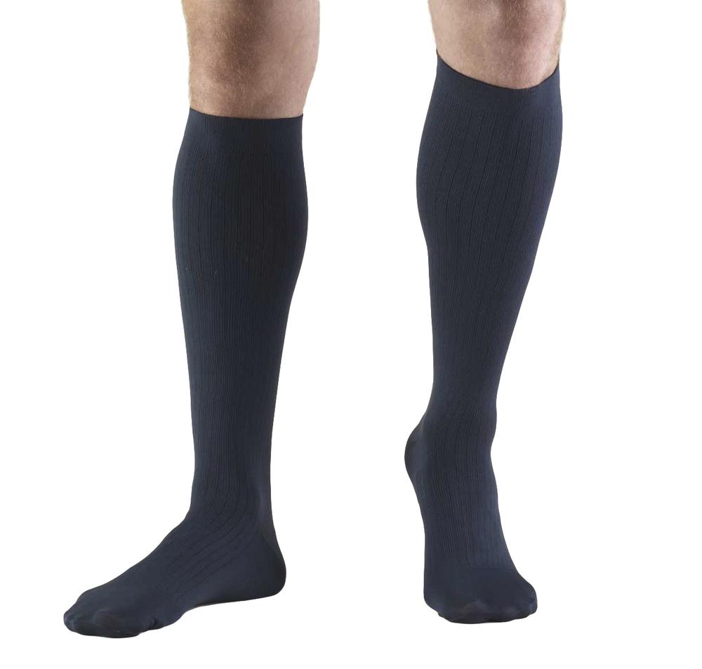 Truform, 1942, 8-15 mmHg, Compression, Men's, Knee High, Dress Sock, Navy