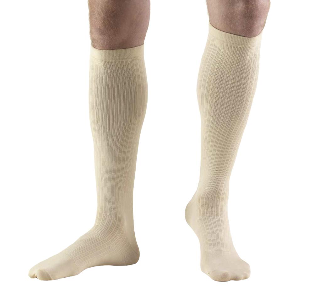 Truform, 1942, 8-15 mmHg, Compression, Men's, Knee High, Dress Sock, Tan