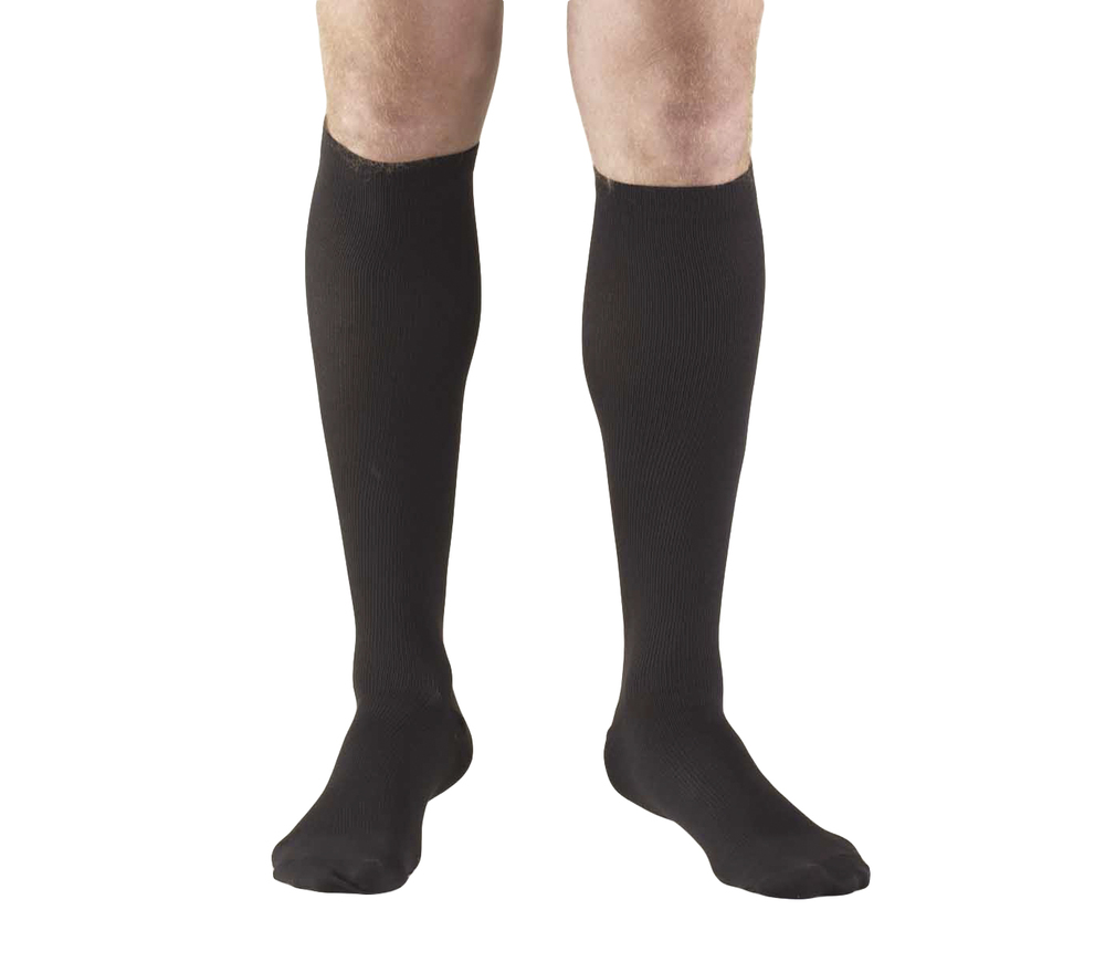 Truform, 1943, 15-20 mmHg, Compression, Men's, Knee High, Dress Sock, Black