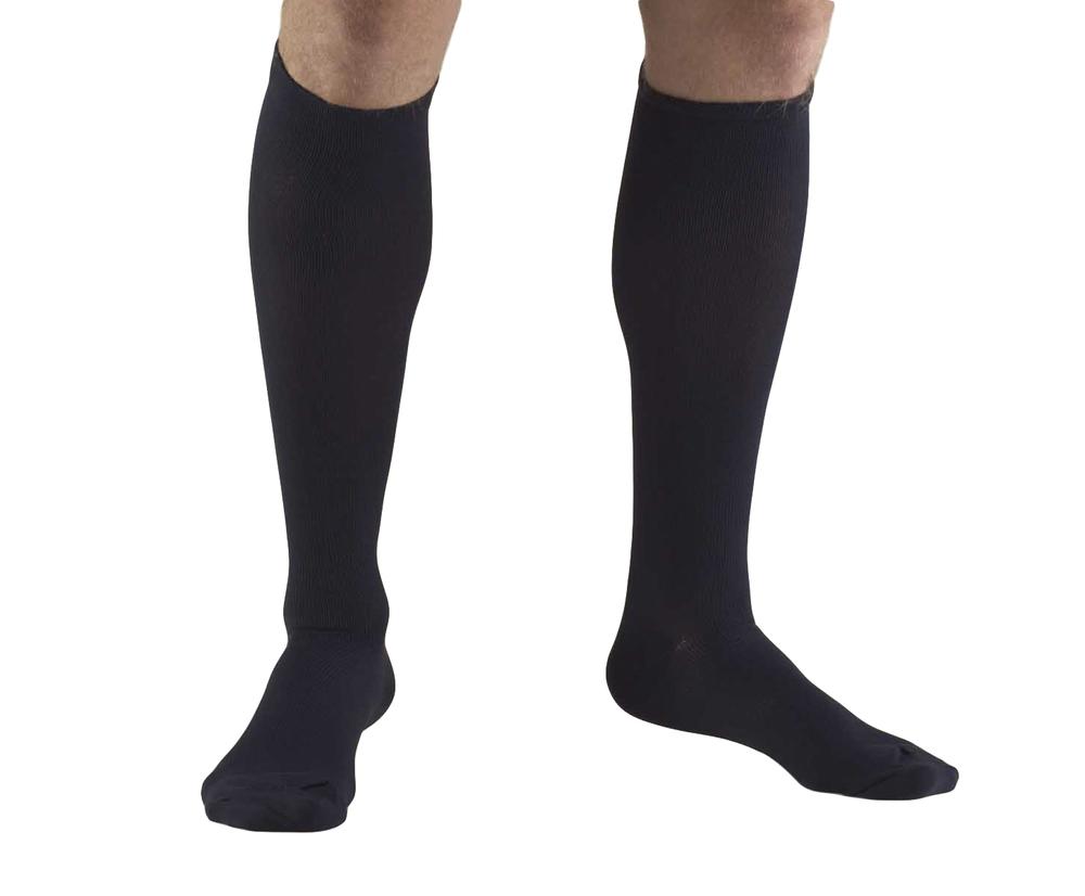 Truform, 1943, 15-20 mmHg, Compression, Men's, Knee High, Dress Sock, Navy