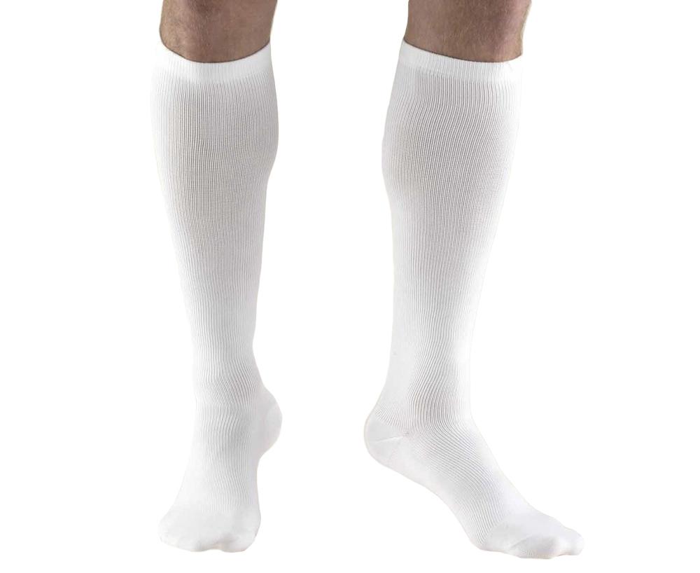 Truform, 1943, 15-20 mmHg, Compression, Men's, Knee High, Dress Sock, White
