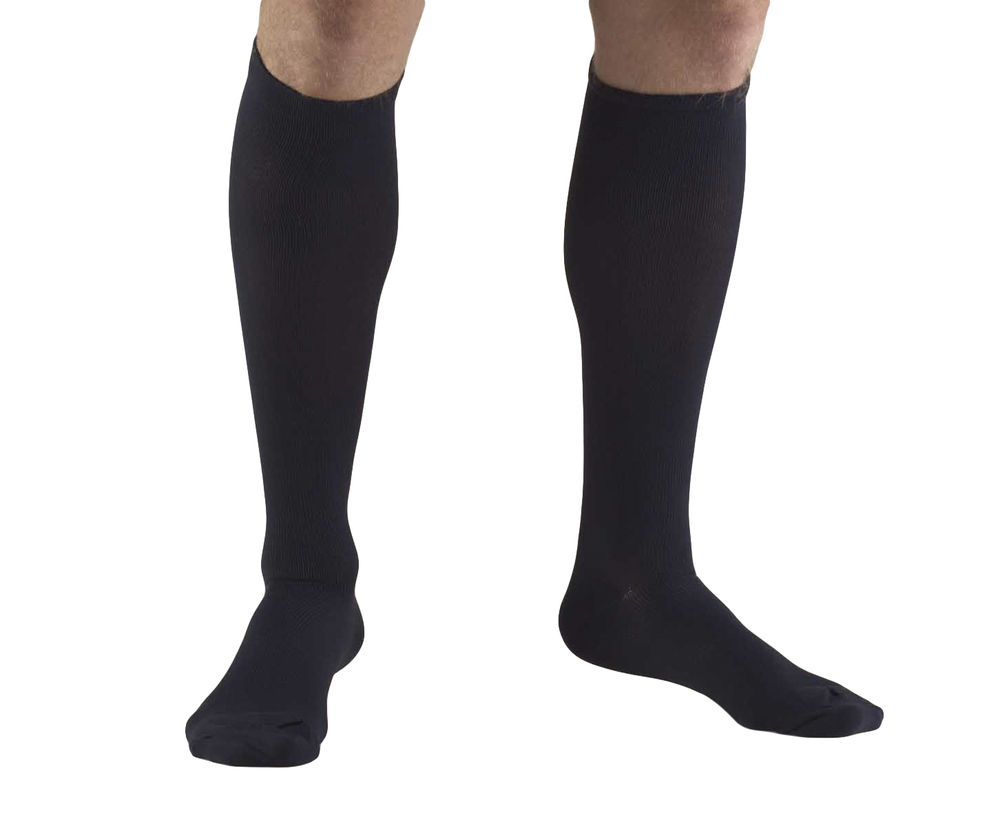 Truform, 1944, 20-30 mmHg, Compression, Men's, Knee High, Dress Sock, Navy