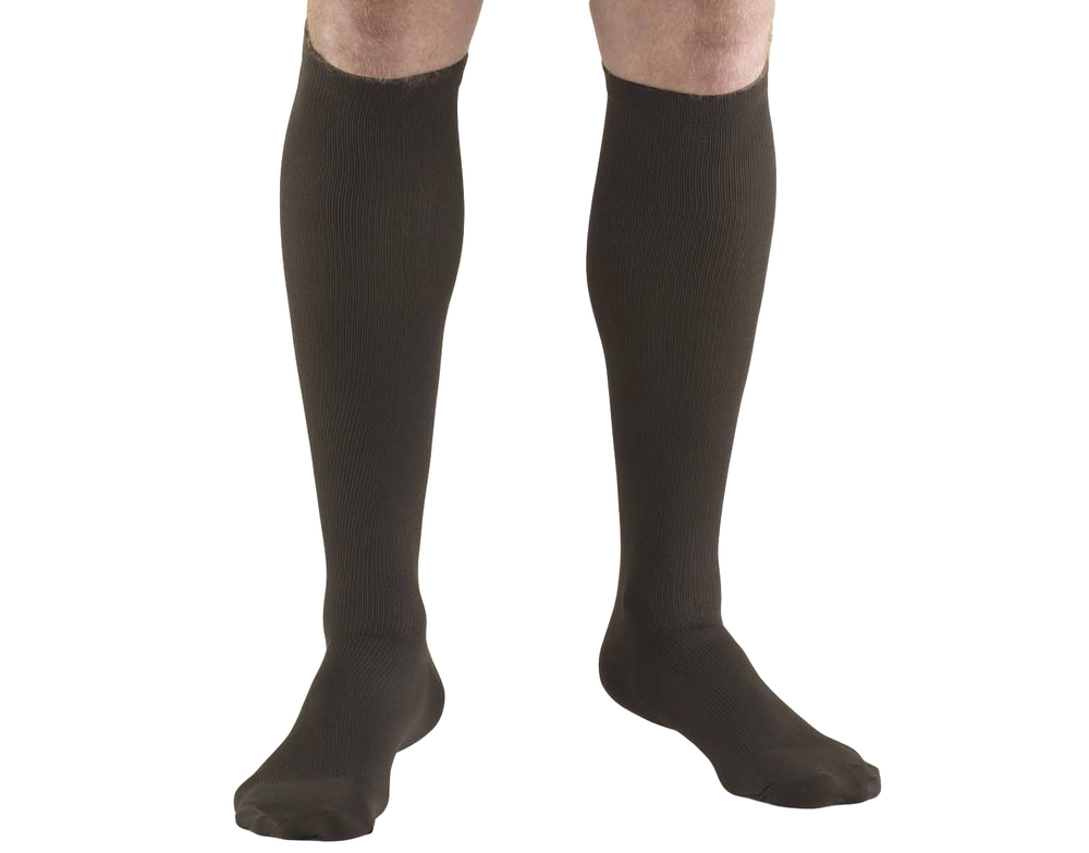 Truform, 1944, 20-30 mmHg, Compression, Men's, Knee High, Dress Sock, Brown