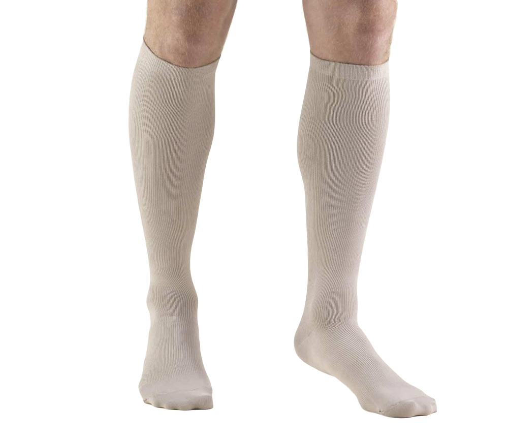 Truform, 1944, 20-30 mmHg, Compression, Men's, Knee High, Dress Sock, Tan