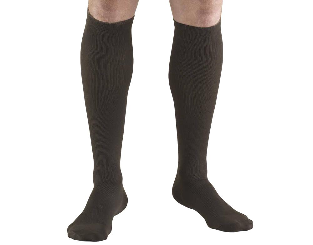 Truform, 1954, 30-40 mmHg, Compression, Men's, Knee High, Dress Sock, Brown