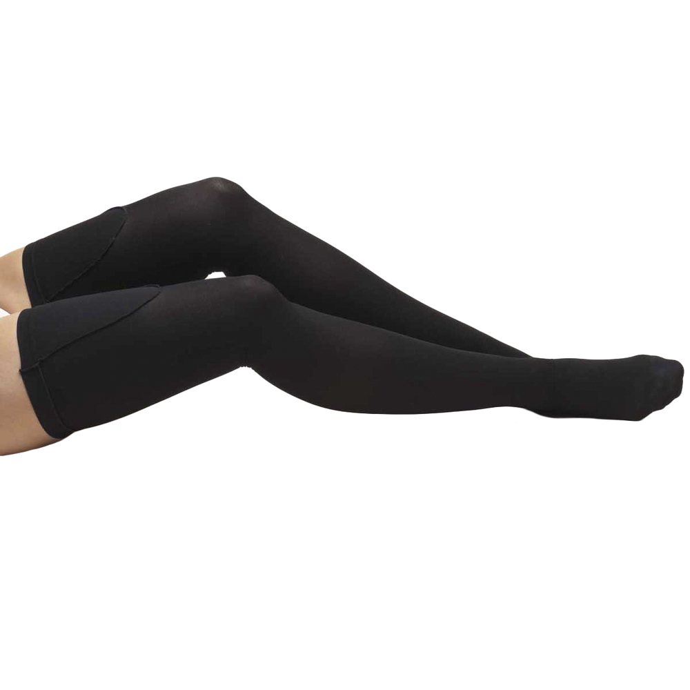 Truform, 8810, 18 mmHg, Anti-Embolism, Closed Toe, Thigh High, Stockings, Black