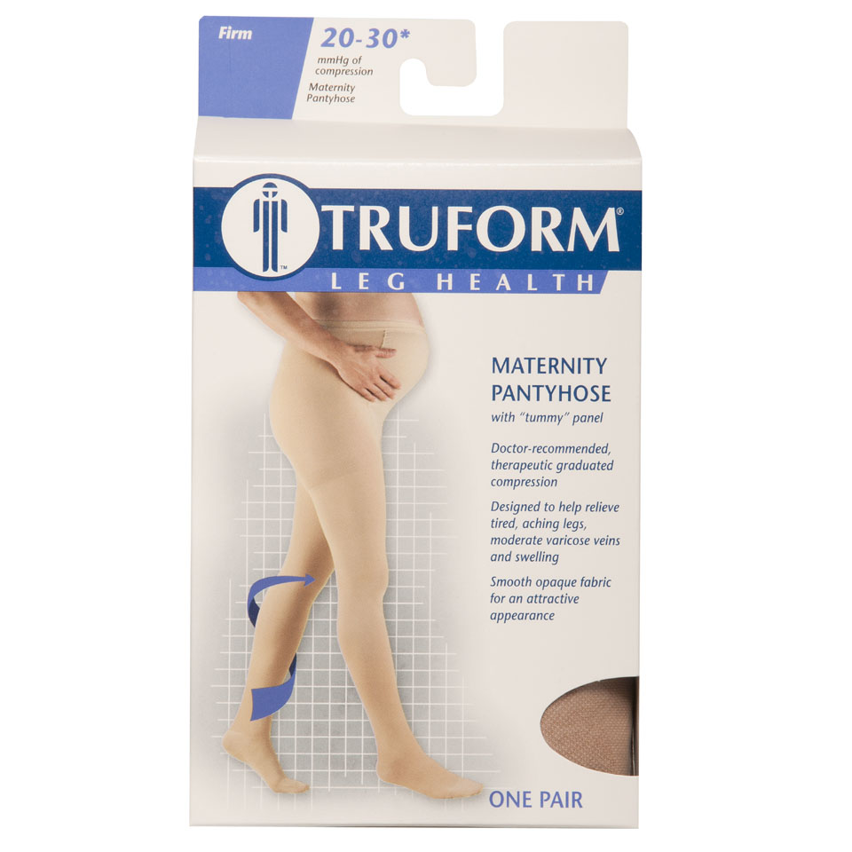 Truform, 1757, 20-30 mmHg, Maternity Figure, Pantyhose, Package