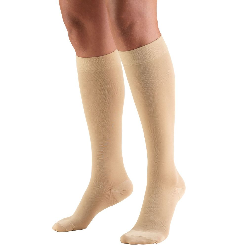 Truform, 8865, 20-30 mmHg, Soft Top, Closed Toe, Knee High, Stockings, Beige