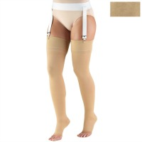 0866 / THIGH HIGH-SOFT TOP, OPEN TOE / 20-30 MMHG