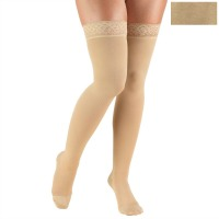 8867 / THIGH HIGH SILICONE LACE TOP, OPEN TOE / 20-30 MMHG