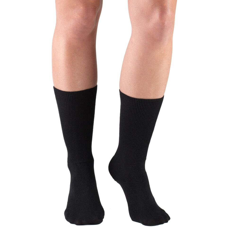 Truform, 1915, Comfort Care, Dress Socks, Black